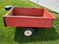 Red Lawn Cart