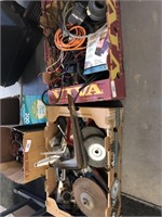 2 Boxes of Tools and Electrical Misc