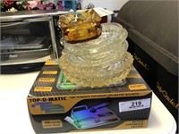 Top - O - Matic Cigarette Machine - Glass Ash Tray