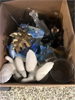 Box of Glass Figurines