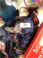 2 Porceline Face Dolls
