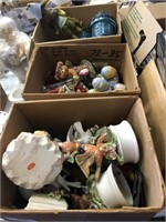 3 Boxes of Figurines (bears - Frogs - Birds