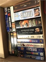 Box of Assorted VHS Tapes