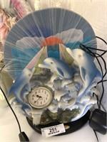Dolphin Clock - Village Waterfall Decoration - Mis