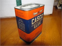 Vintage Tin Casco Powdered Casein Glue Near Full