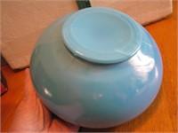 """Vintage Blue Opalescent Bowl 8"""" x 3&5/8"""""""