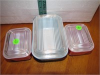 3 Piece Pyrex Refrigerator Dishes