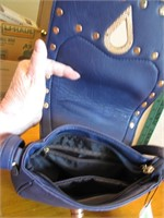 VLD Blue Saddle Bag Purse