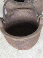 3 Small Cast Iron Bowls And 1 Ladle