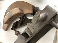 Curved Plane, Cast Iron & Wood Plane