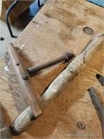Box Lot Of Wood Tool Parts