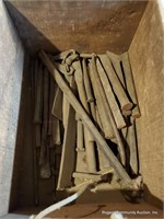 Wooden Crate W/ Chisels