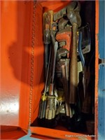 Red Tool Box W/ Assorted Tools