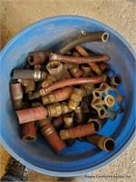 Bucket Of Brass Fittings