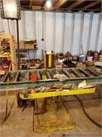 Yellow Work Table, Roller (Including Contents)