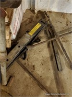 Pile W/ Straps, Jack, Pipe Cutter & Misc. Tools