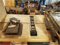 Wooden Shelf & Contents