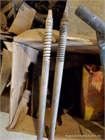 Pile Of Furnace Pipe & Misc. Tools