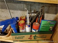 Contents Of Wooden Painters Shelf