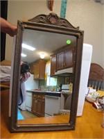 "Antique Mirror 34&3/4"" x 14"""
