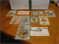 10 Antique Easter Post Cards