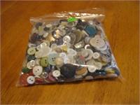 Sandwich Bag of Vintage Buttons