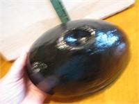 Vintage Heavy Black Amethyst Blown Glass Bowl