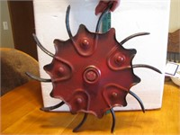 """Vintage Iron Rotary Hoe for Yard Art 16&3/4"""""""