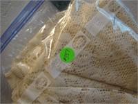 "Vintage Table Cloth 128"" x 80"""