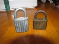 2 Vintage Padlocks 1 Brass Ace & 1 Steel Eagle