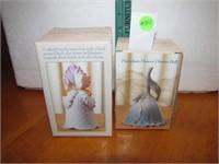 2 Porcelain Flower Dinner Bells with Box