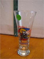 Vintage Spuds Mackenzie Bud Light Glass 7&1/4'