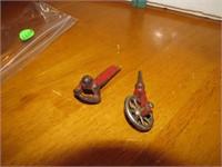 2 Antique Cast Iron Toy Parts