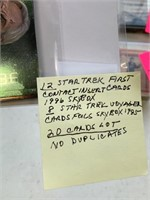 LOT OF 12 STAR TREK 1ST CONTACT CARDS