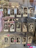 45 PEERLESS MOVIE STAR WEIGHT MACHINE CARDS