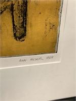 "SIGNED ARTIST PROOF PRINT ""ANARCHY II"" ANN MEYER"