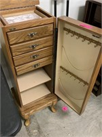 QUEEN ANNE JEWELRY ARMOIRE