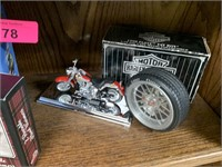 CONTENTS OF SHELF LOT OF MISC HARLEY DAVIDSON