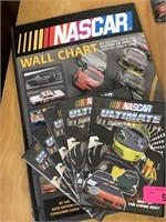 NASCAR WALL CHART AND MISC