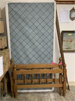 TWIN BED AND RAILS W BOX SPRINGS