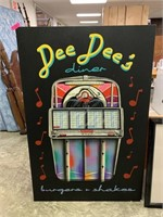 LARGE DEE DEE'S DINER CANVAS ART