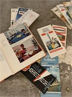 LOT OF VTG MAPS AND MISC / COOKBOOK