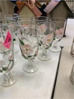 LARGE LOT OF FRANCISCAN DESERT ROSE GLASSWARE