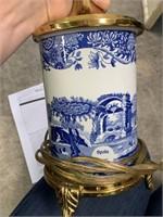 2PC STUNNING BLUE & WHITE SPODE LAMPS