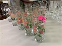 LOT OF FRANCISCAN DESERT ROSE TUMBLER GLASSES