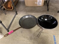 2PC GOOD QUALITY PANS (SOLID COPPER) AND CHANTAL
