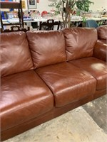 LARGE GOOD QUALITY LEATHER SOFA