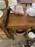 WOOD SOFA TABLE W 3 DRAWERS