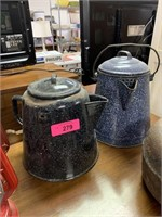 2PC GRANITEWARE CAMP COFFEE POTS