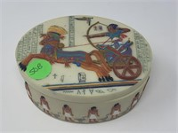VTG EGYPTIAN RESIN TRINKET BOX